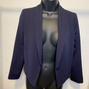 XOXO Navy Blue Cropped Blazer Size Small - E22